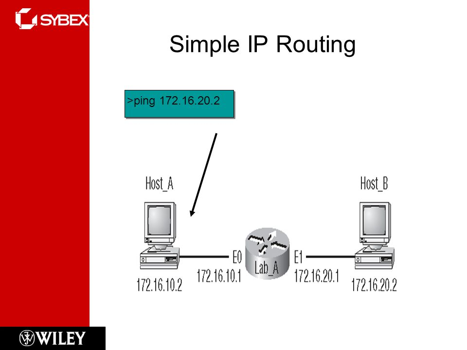 Simple IP Routing >ping 172.16.20.2