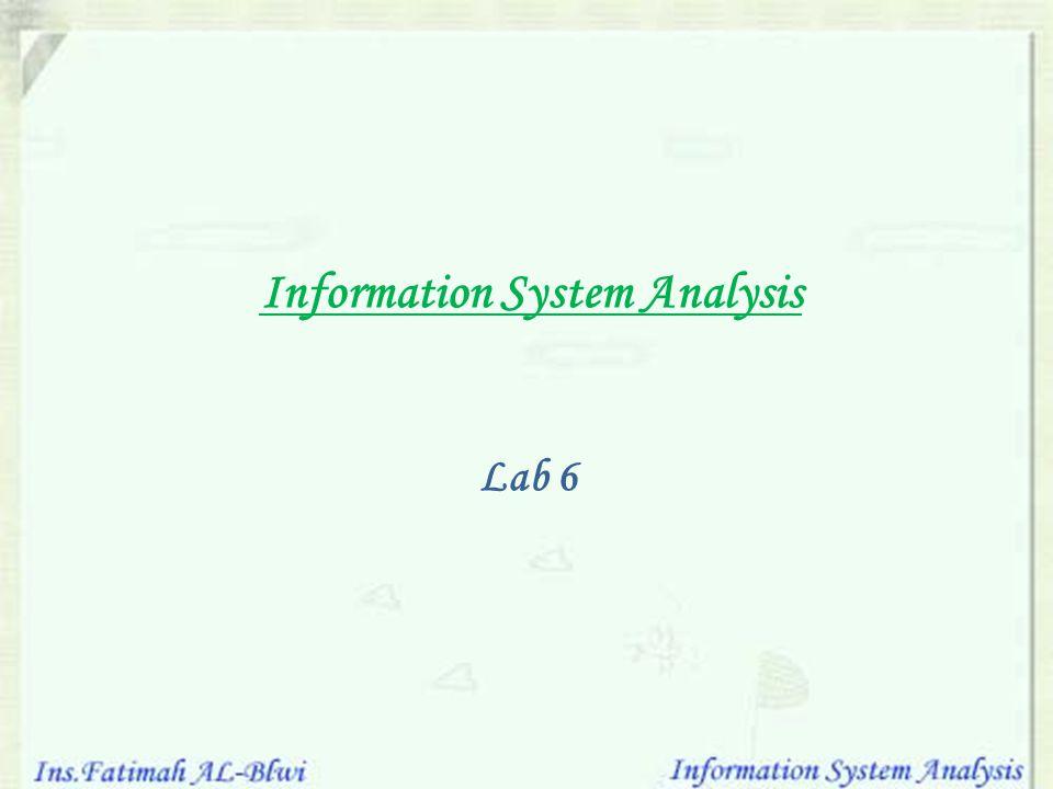 Information System Analysis Lab 6