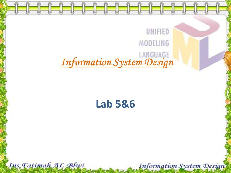 Information System Design Lab 5&6