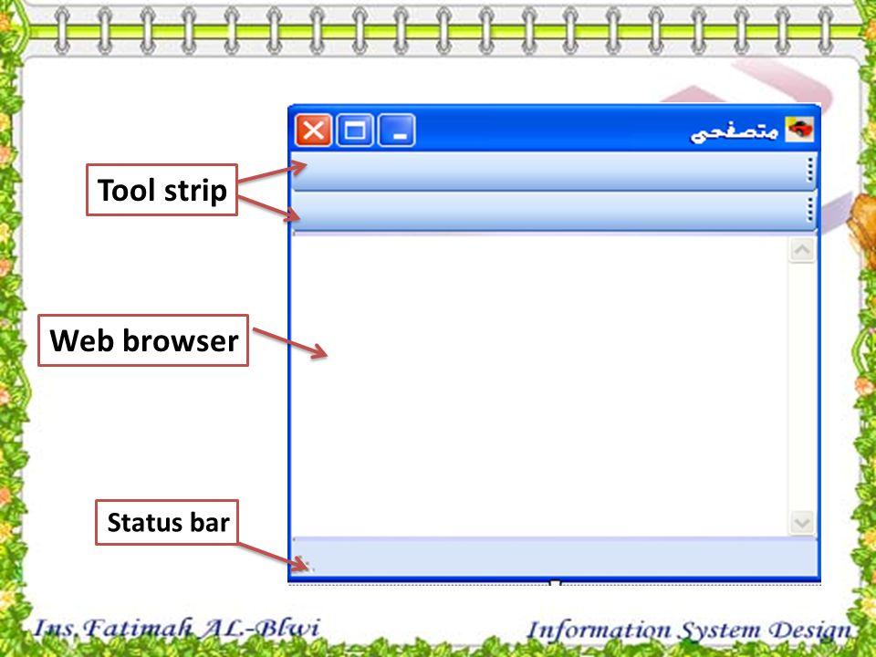 Status bar Web browser Tool strip