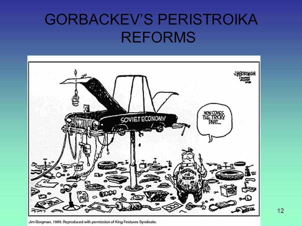 12 GORBACKEV'S PERISTROIKA REFORMS