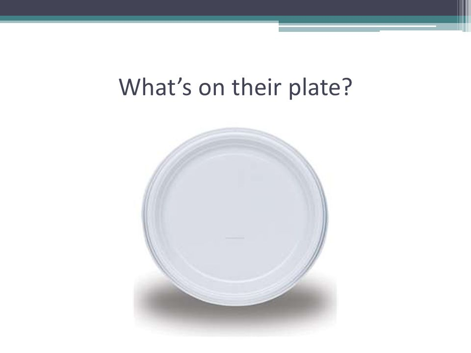 What's on their plate?