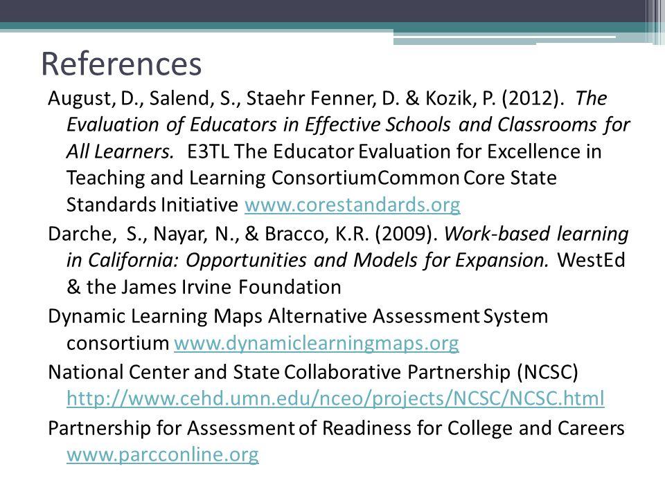 References August, D., Salend, S., Staehr Fenner, D.