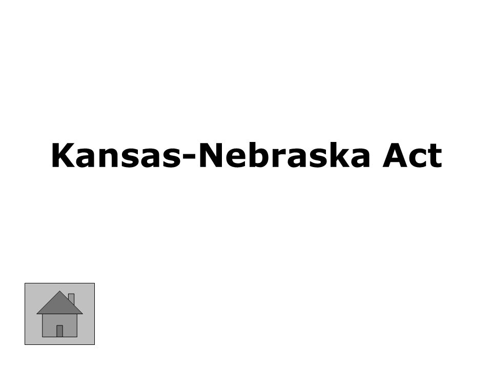 An 1854 law that established the territories of Kansas and Nebraska and giving settlers there the right of Popular Sovereignty to decide on the issue