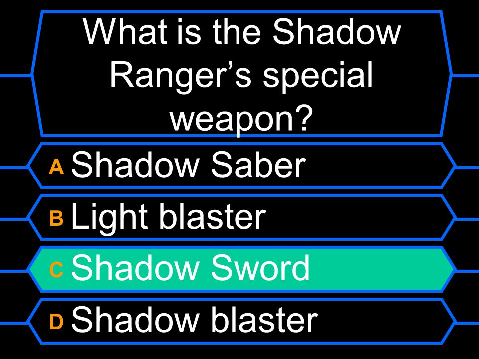 What is the Shadow Ranger's special weapon.