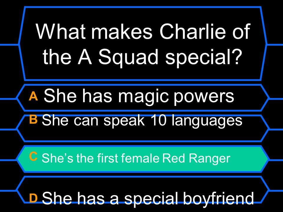 What makes Charlie of the A Squad special.