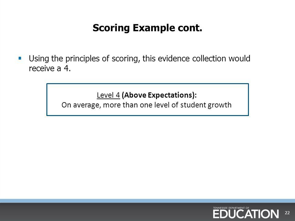 Scoring Example cont.