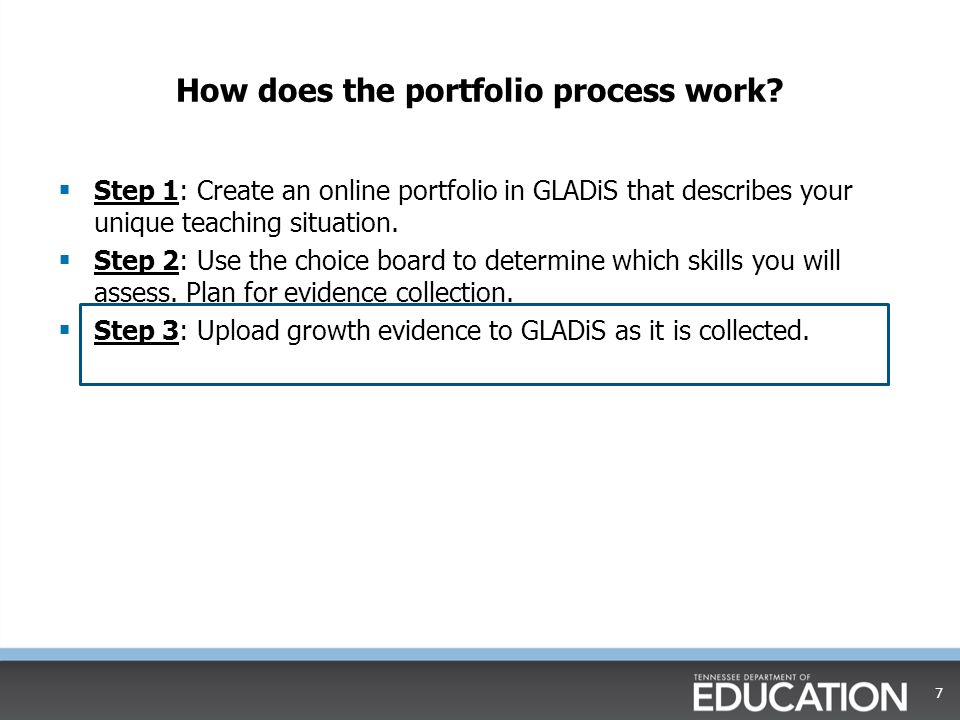 How does the portfolio process work.