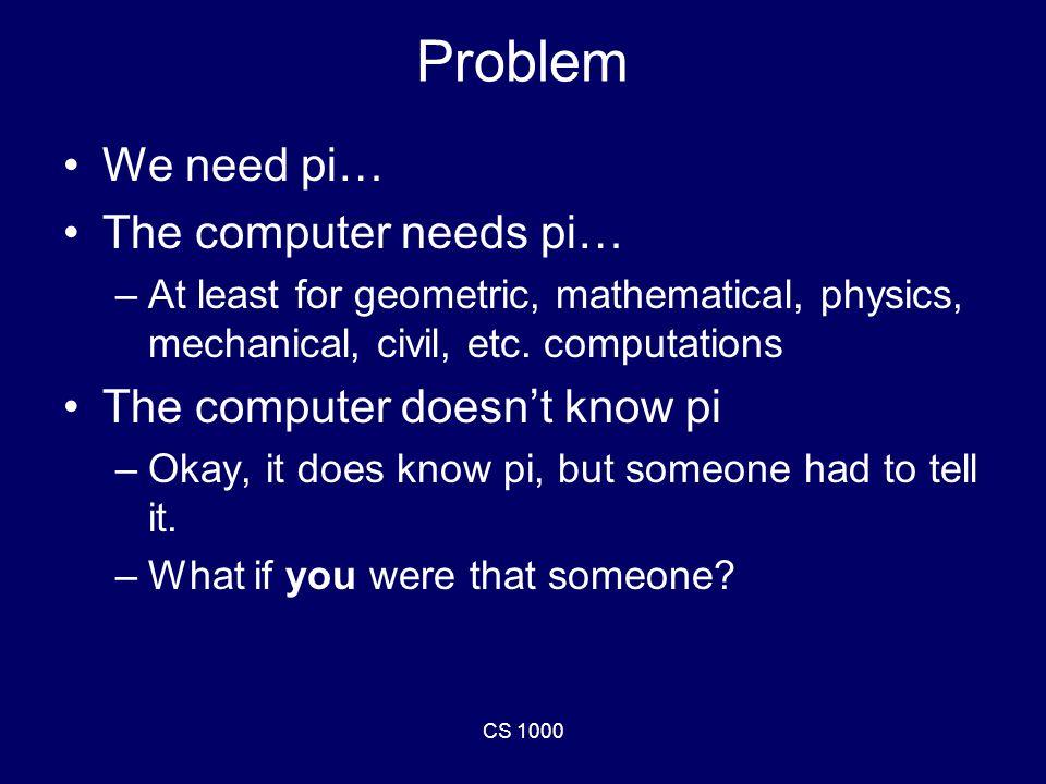 CS 1000 Write a program.Use a For loop.