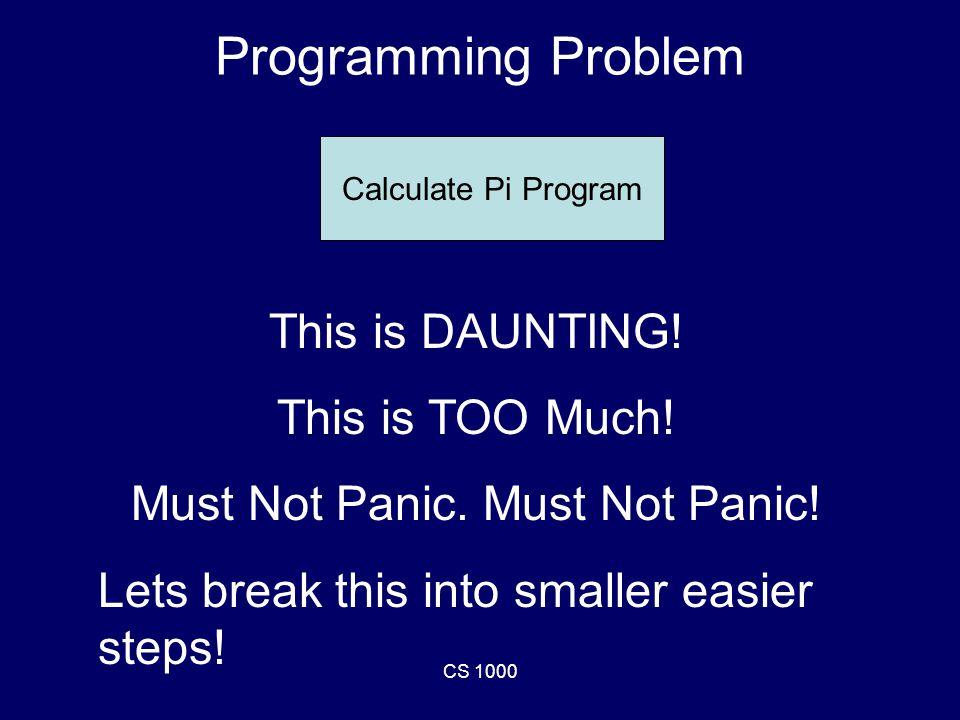 CS 1000 Write a For Loop! for i=2:2:1000 –fprintf('%d ', i); end fprintf('\n');