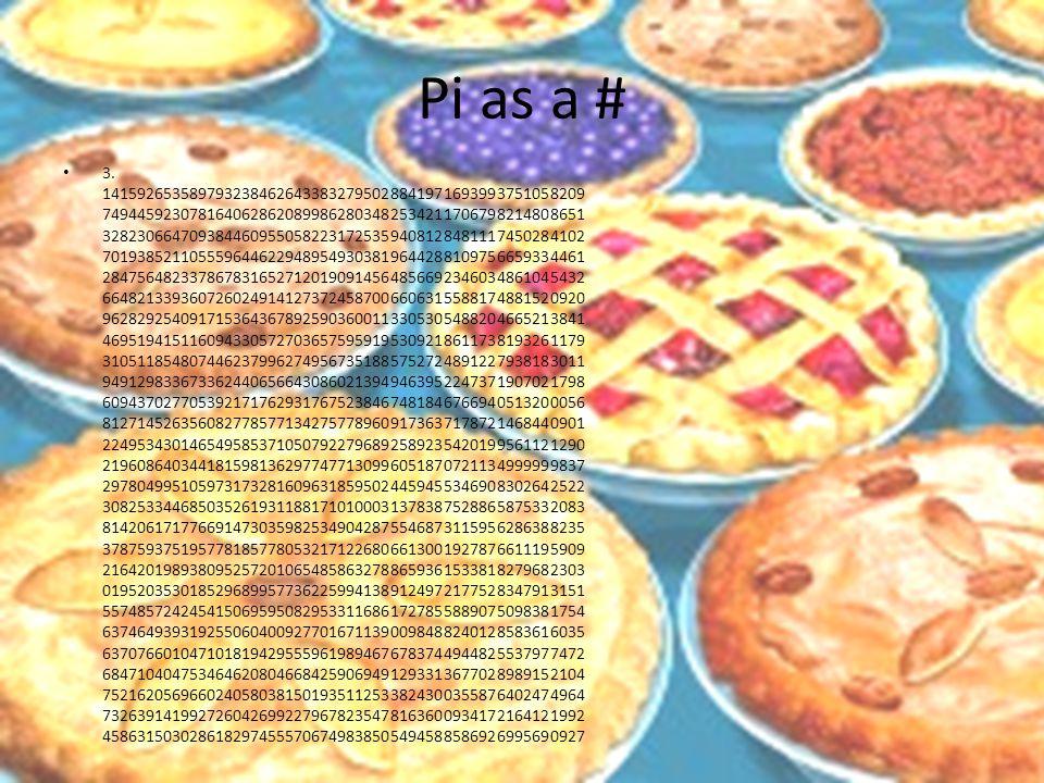 Pi as a # 3.