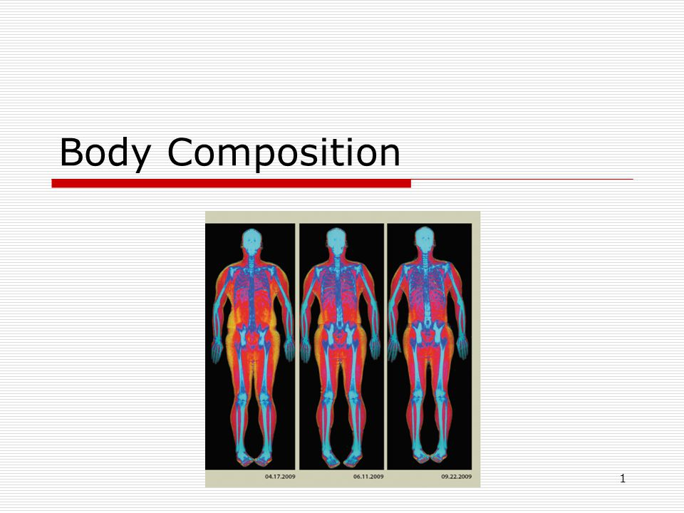 The Basics of Body Composition There is no single ideal body weight, size, shape, or body type for everyone.