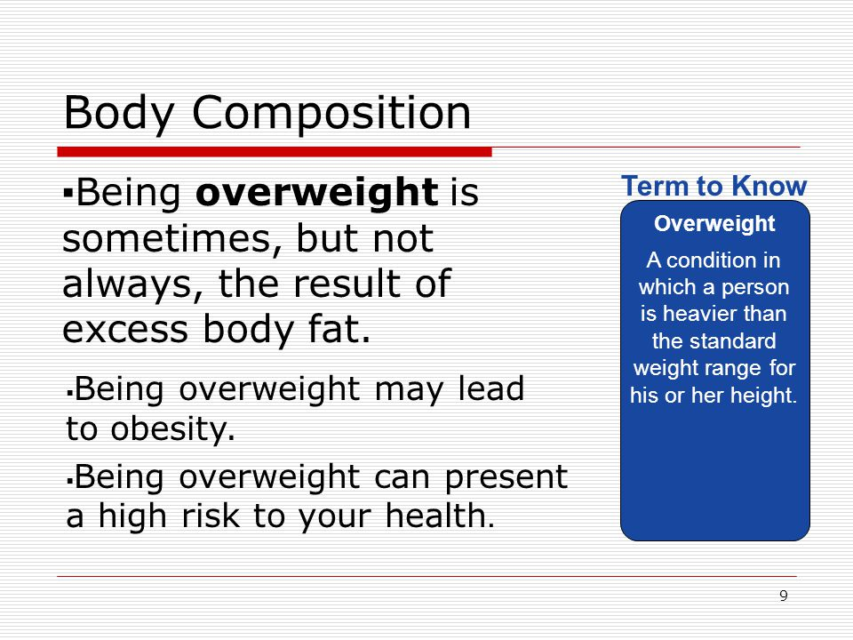 Body Composition Essential fat is necessary for these reasons: Essential fat The minimum amount of body fat necessary for good health.