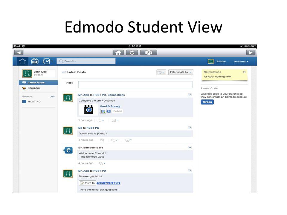 Edmodo Student View