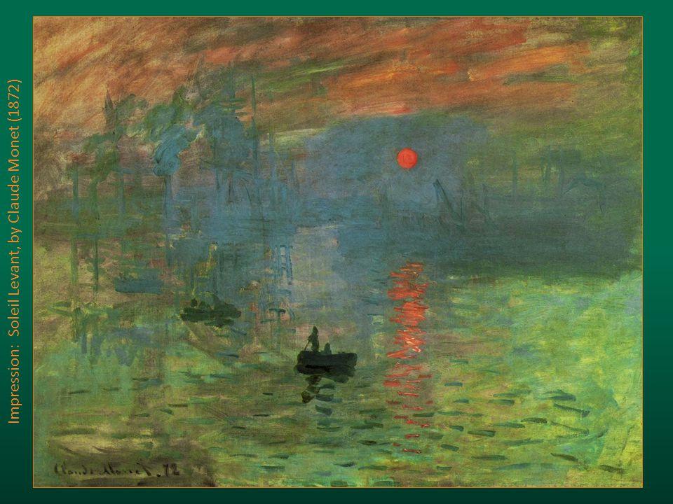 Impression: Soleil Levant, by Claude Monet (1872)