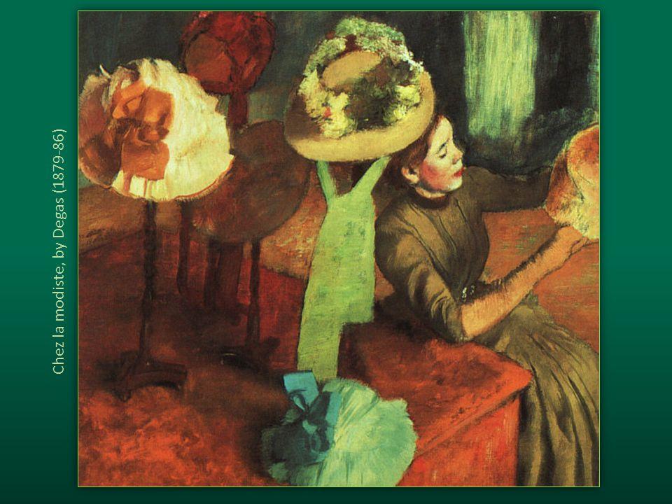 Chez la modiste, by Degas (1879-86)