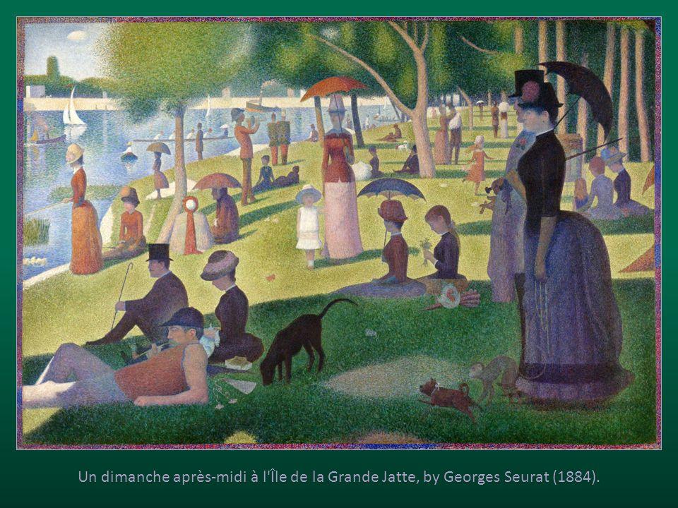 Un dimanche après-midi à l Île de la Grande Jatte, by Georges Seurat (1884).