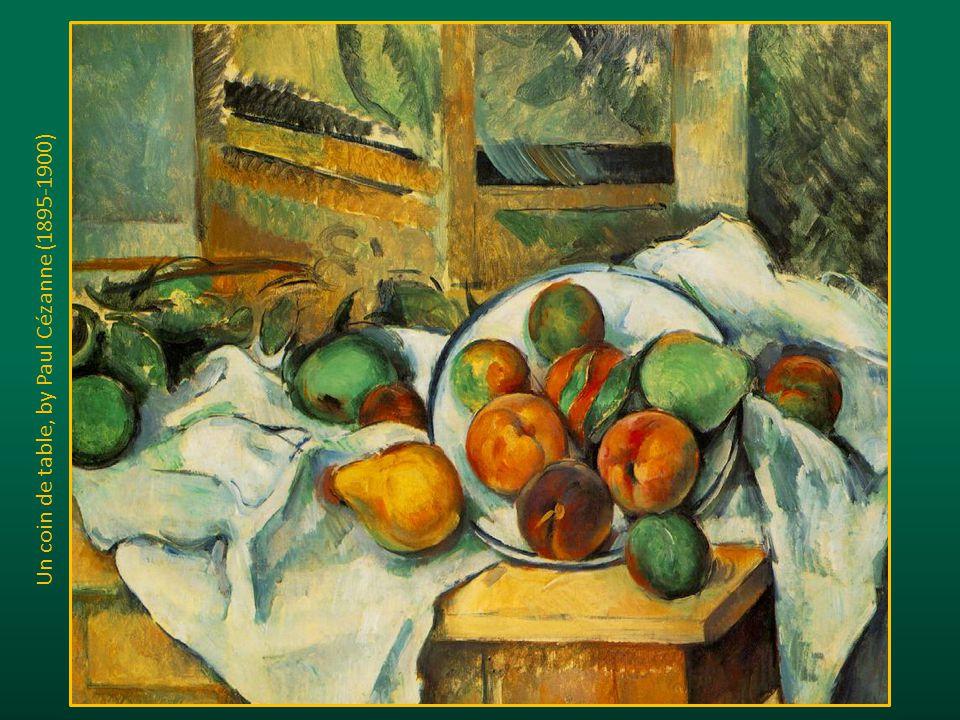 Un coin de table, by Paul Cézanne (1895-1900)