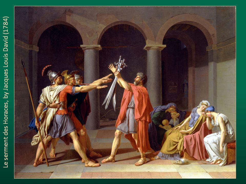 Le serment des Horaces, by Jacques Louis David (1784)
