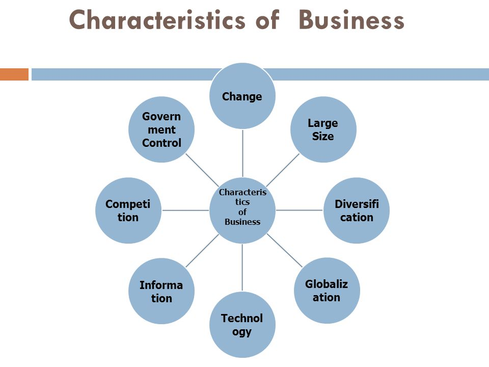 Characteristics of Business Characteris tics of Business Change Large Size Diversifi cation Globaliz ation Technol ogy Informa tion Competi tion Govern ment Control