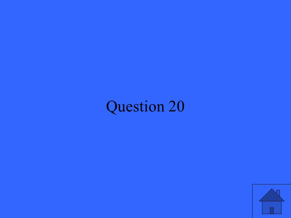 41 Question 20