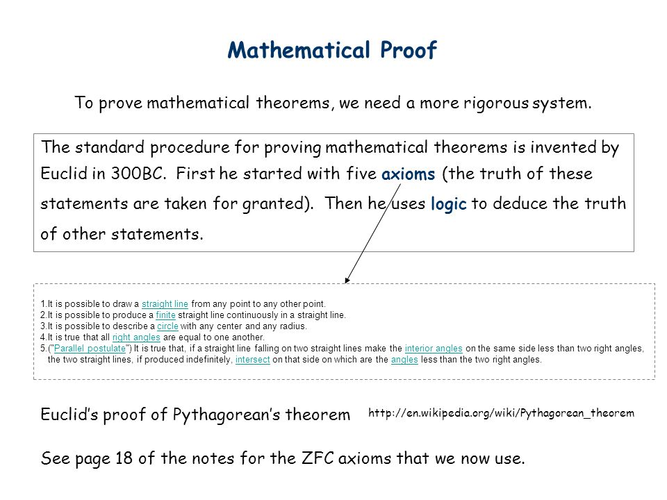 Statement (Proposition) A Statement is a sentence that is either True or False Examples: Non-examples:x+y>0 x 2 +y 2 =z 2 True False 2 + 2 = 4 3 x 3 = 8 787009911 is a prime They are true for some values of x and y but are false for some other values of x and y.