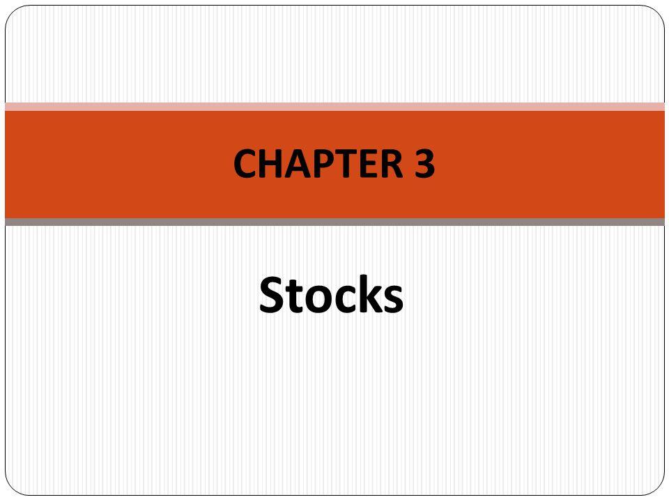 Stocks CHAPTER 3