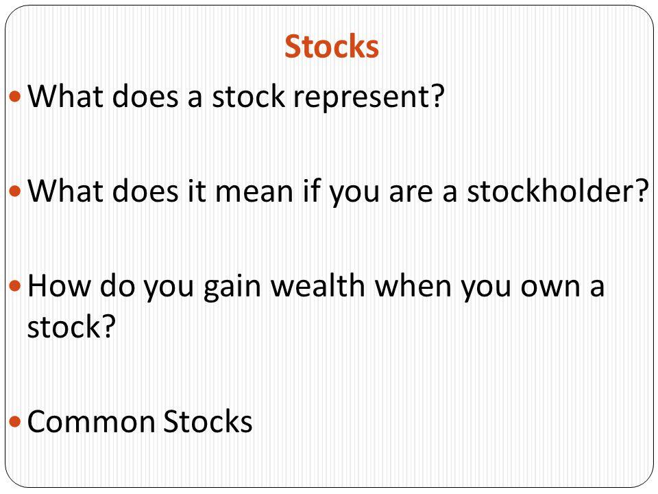 Stocks Income Stocks Blue-chip Stocks Growth Stocks Cyclical Stocks Defensive Stocks