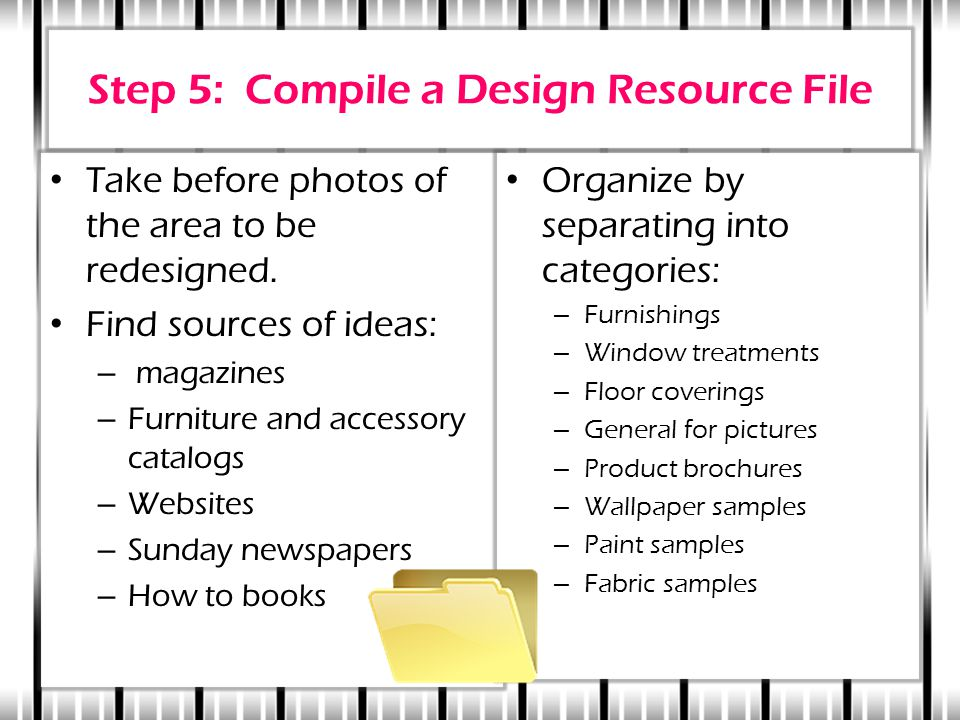 Step 5: Compile a Design Resource File Take before photos of the area to be redesigned.