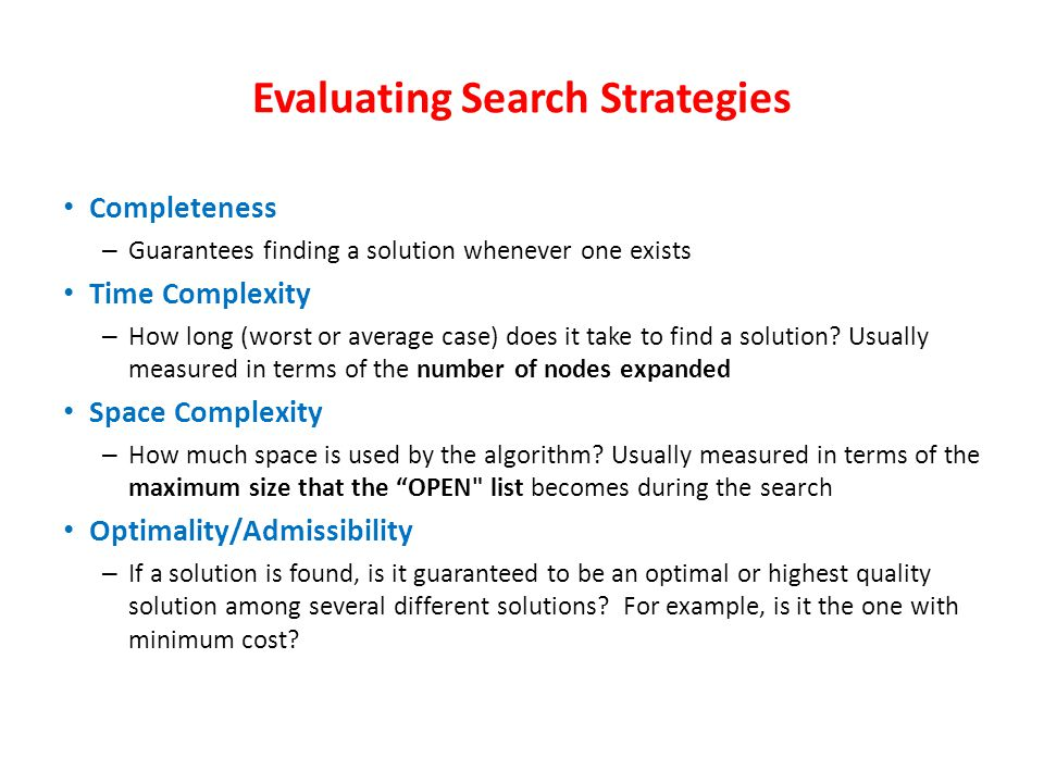 Data-driven search uses knowledge and constraints found in the given data to search along lines known to be true. Use data-driven search if: All or mo