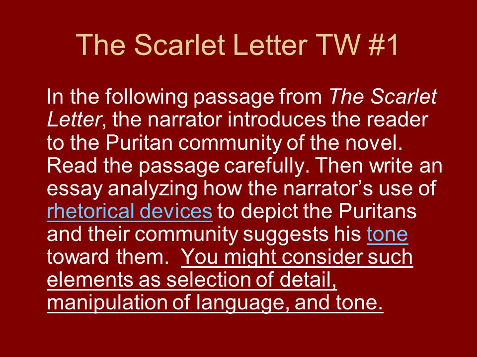 the scarlet letter 3 essay