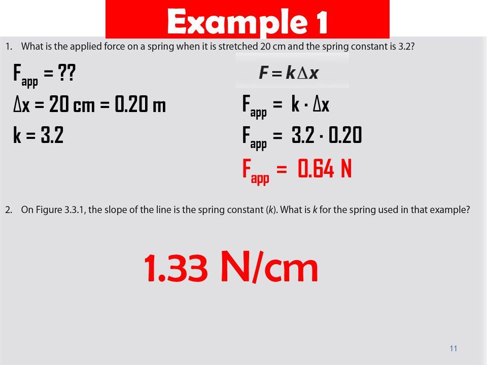 Example 1 11 F app = ?.