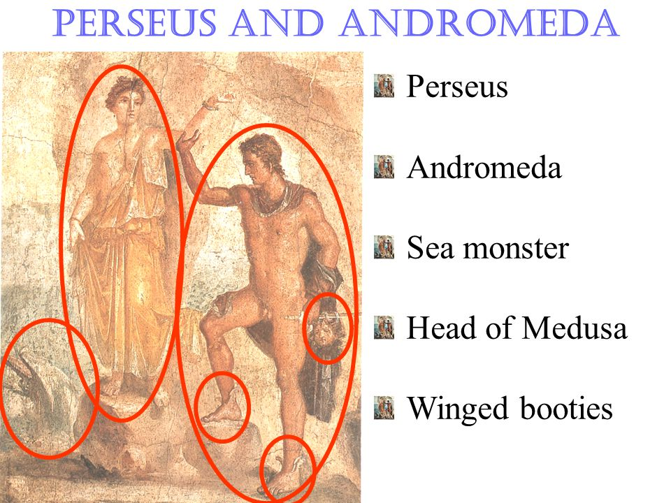 Perseus and Andromeda Perseus Andromeda Sea monster Head of Medusa Winged booties