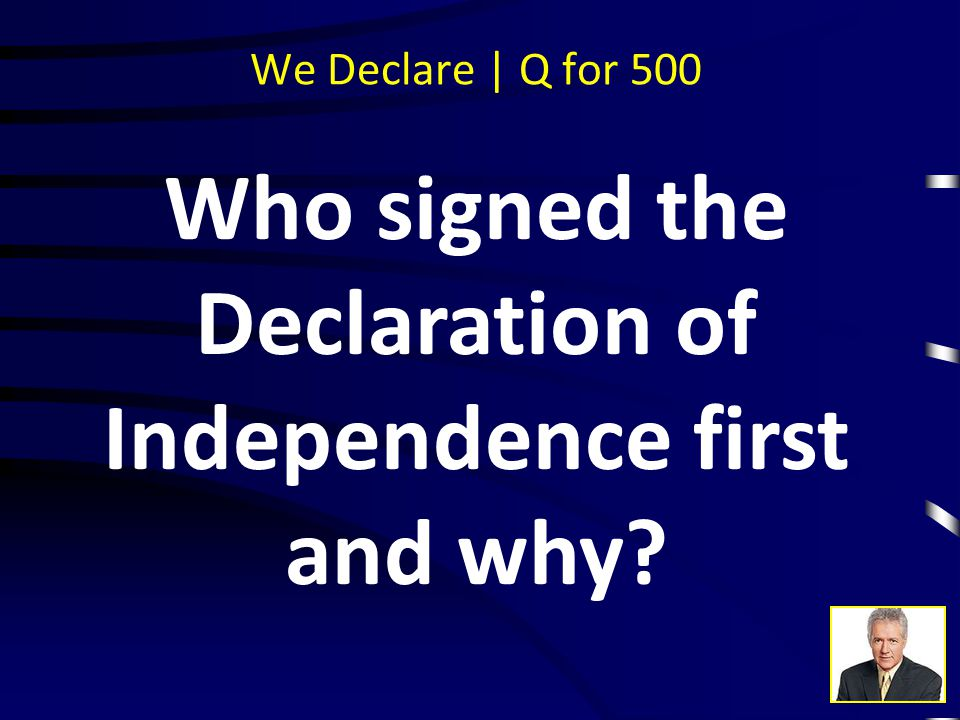 We Declare | A for 400 National Treasure