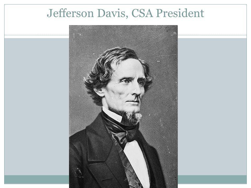Jefferson Davis, CSA President