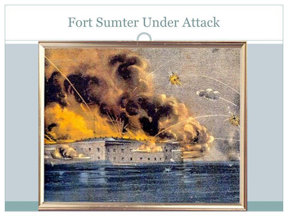 Fort Sumter Under Attack