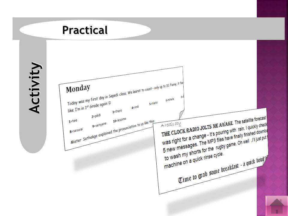 Activity Practical