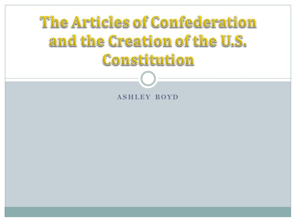 The ultimate purpose of the Constitution was to replace the Articles of Confederation and to make a stronger central government that could prove to be successful for the nation.