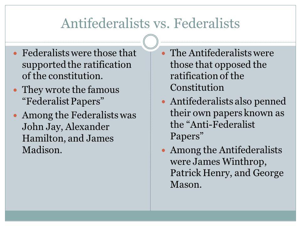 Antifederalists vs.