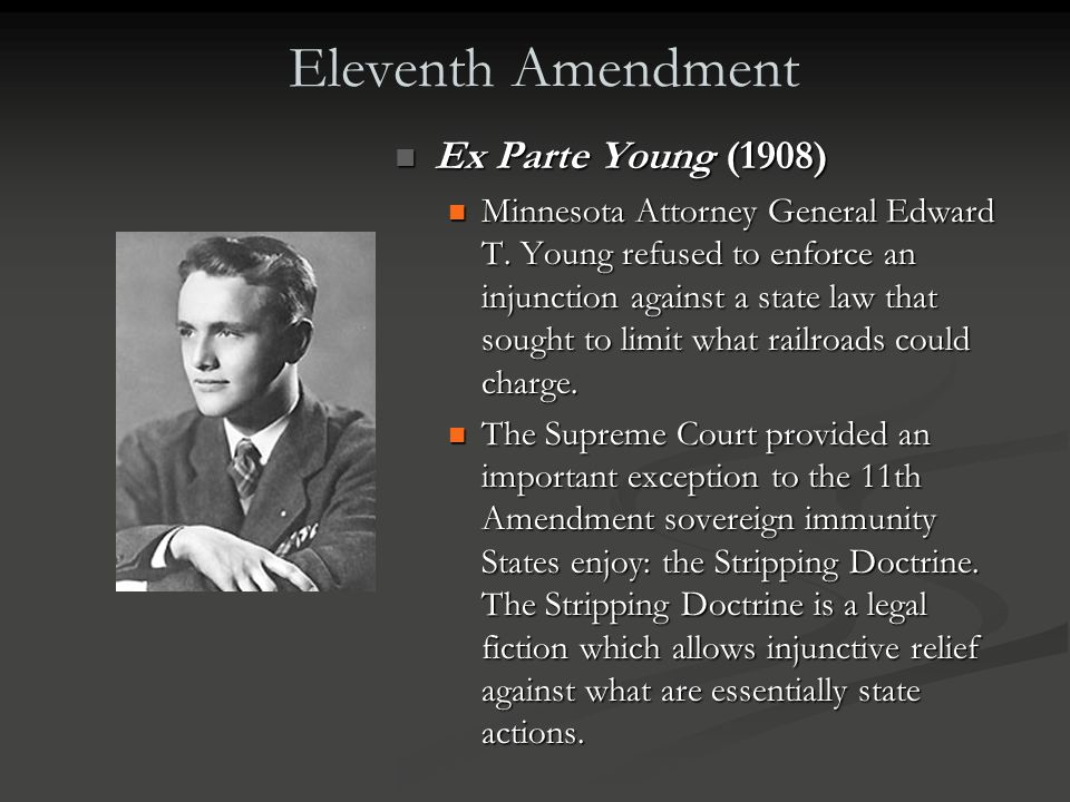 "Eleventh Amendment ""The Judicial power of the United States shall not be construed to extend to any suit in law or equity, commenced or prosecuted aga"