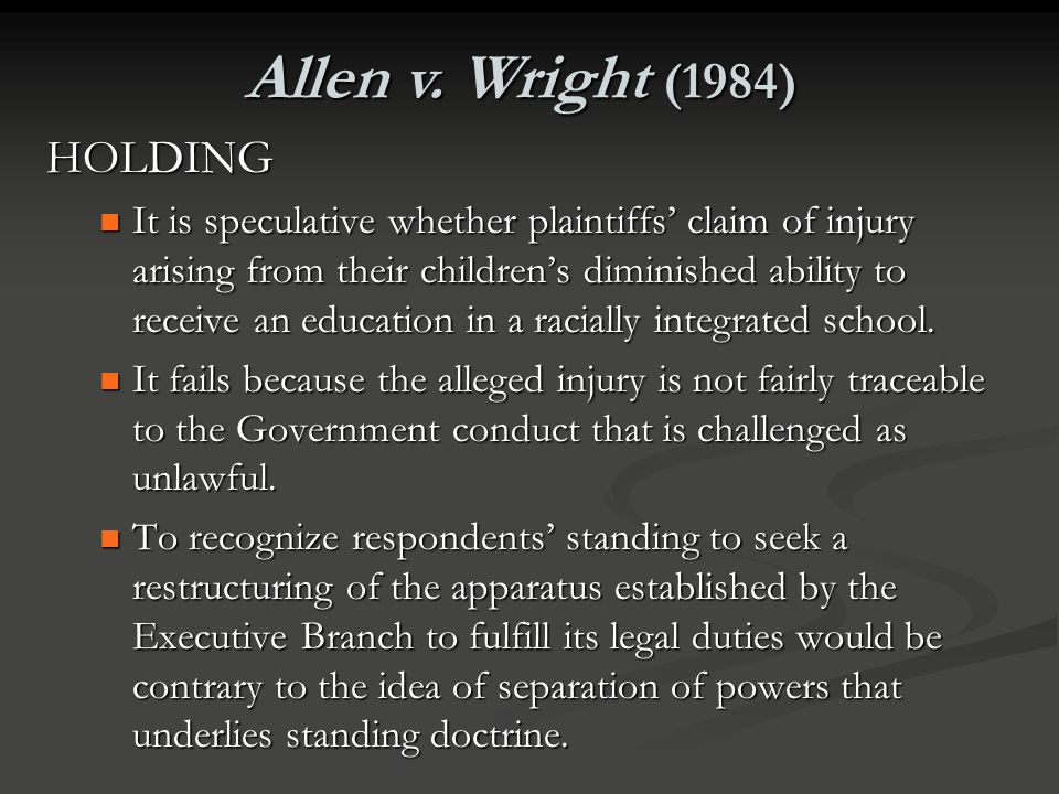 Standing Standing is the term for the ability of a party to demonstrate to the court sufficient connection to and harm from the law or action challeng