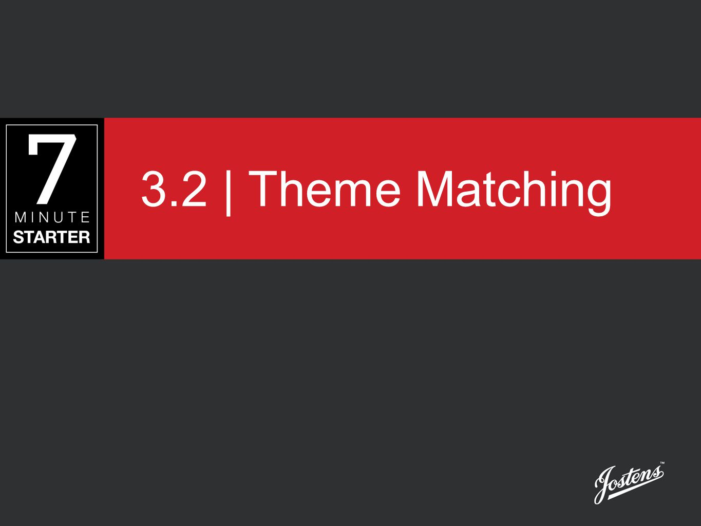 STEP 1 - LEARN Using Start Right Handout 3.2 - Theme Matching, identify the cover that matches each spread shown in this presentation.