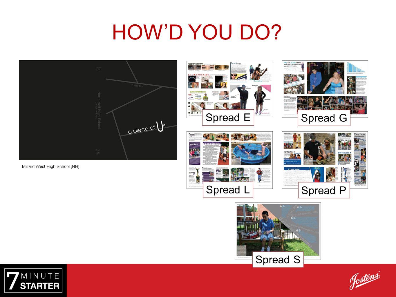 Spread L Spread G Spread S Spread E Millard West High School [NB] Spread P HOW'D YOU DO