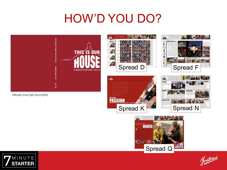 Spread Q Stillwater Area High School [MN] Spread F Spread D Spread N Spread K HOW'D YOU DO