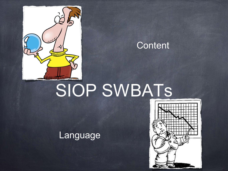 SIOP SWBATs Content Language