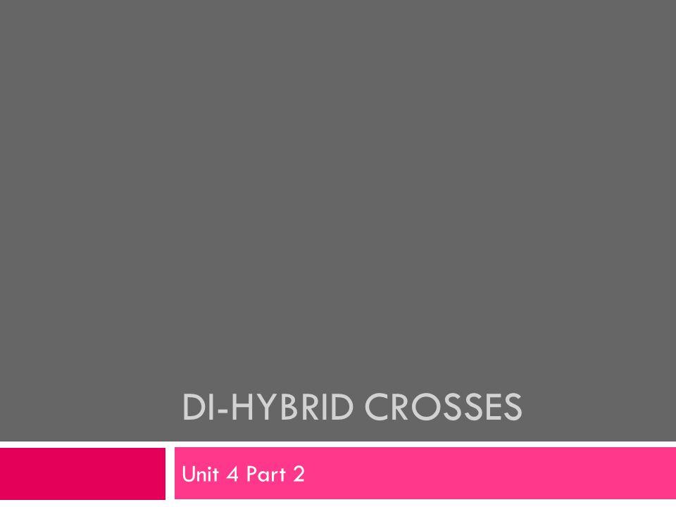 DI-HYBRID CROSSES Unit 4 Part 2