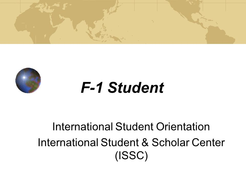 F-1 Student Status Status refers to the actual activity for which a person has been admitted to the United States.