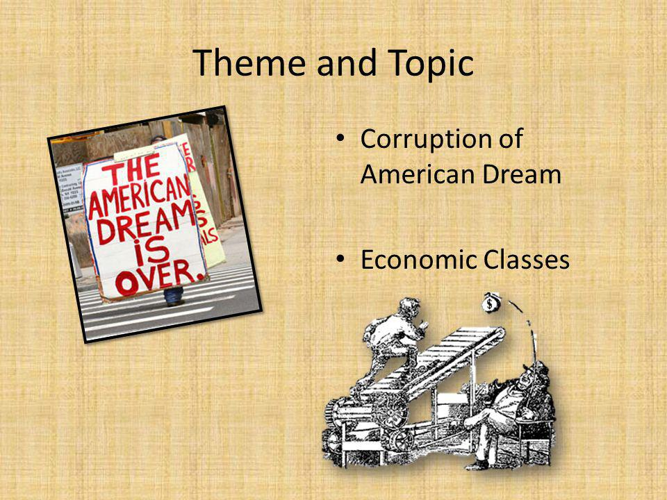 Theme and Topic Corruption of American Dream Economic Classes
