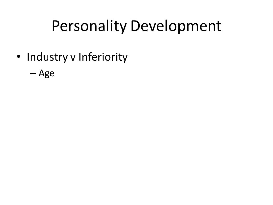Personality Development Industry v Inferiority – Age