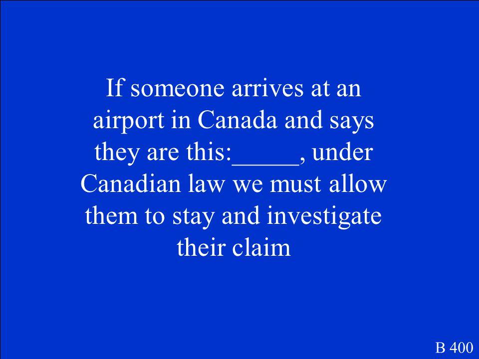 Toronto, Montreal, and Vancouver B 300